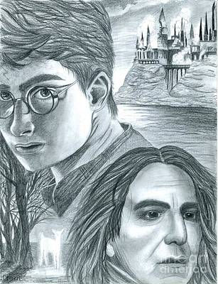 Hermione Granger Drawing - Harry Potter by Crystal Rosene