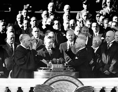 Swearing In Photograph - Harry Trumans Inauguration. Truman by Everett