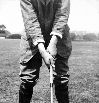 Art Print featuring the photograph Harry Vardon Displays His Overlap Grip by International  Images