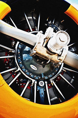 Harvard Propeller Photograph - Harvard Iv - Radial Engine by Geoff Evans