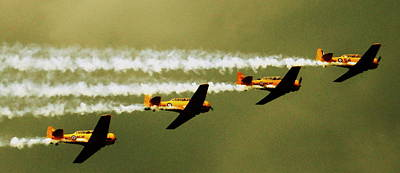 Harvard Propeller Photograph - Harvards In Flight by Jonathan Bateman