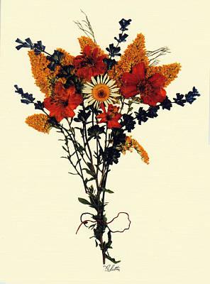 Harvest Bouquet Art Print by Kay  Sutton