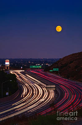 Photograph - Harvest Moon by Eddie Yerkish
