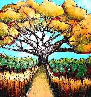 Painting - Harvest Path by Carrie Bennett