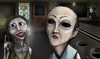 Seattle Taverns Painting - Harvey's Alien by Josh Burns