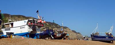 Hastings Fishing Fleet Art Print by Sharon Lisa Clarke