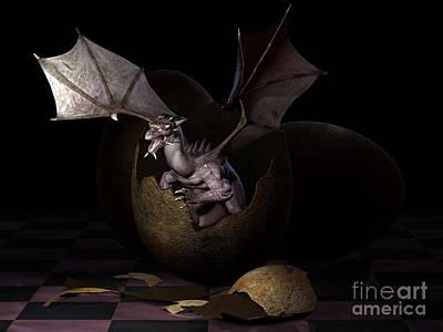 Breed Digital Art - Hatching Dragons by Alexander Butler