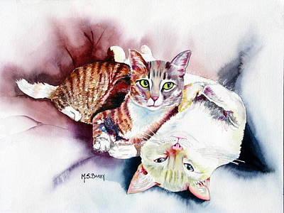 Hathaway Cats Art Print by Maria Barry