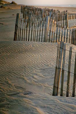 Hatteras Dune Fences Art Print