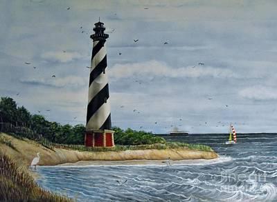 Hatteras Lighthouse Art Print by Sandy  Hurst