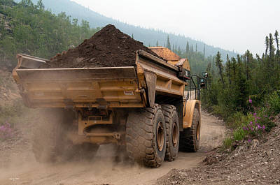 Photograph - Haul Truck - Alaska by Gary Rose