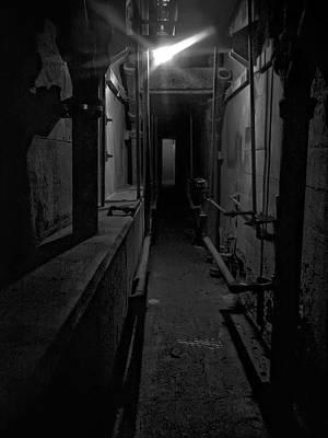 Haunted 1946 Battle Of Alcatraz Death Chamber Art Print by Daniel Hagerman