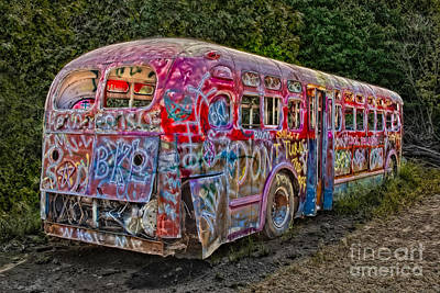 Photograph - Haunted Graffiti Bus II by Susan Candelario
