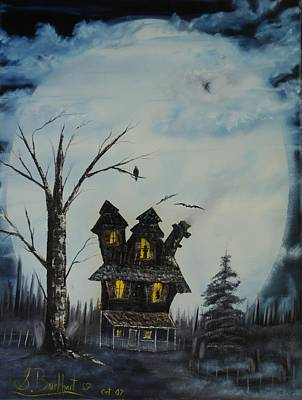 Haunted House 2007 Art Print by Shawna Burkhart