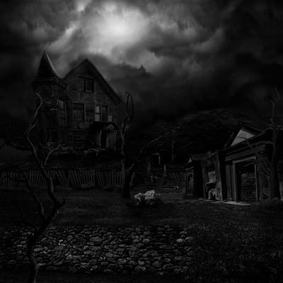 Haunted House II Print by Lisa Evans