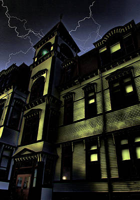 Haunted House Print by Mark Sellers
