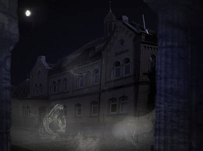 Murky Digital Art - Haunted House by Nafets Nuarb