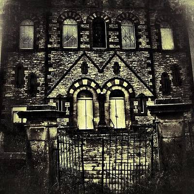 Horror Wall Art - Photograph - Haunted House On The Hill #haunted by Chris Barber
