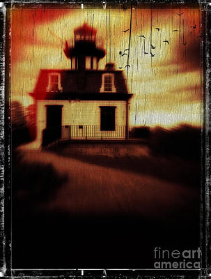 Haunted Houses Photograph - Haunted Lighthouse by Edward Fielding