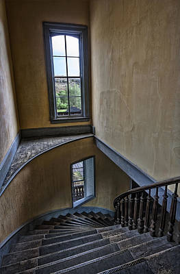 Bannack State Park Photograph - Haunted Meade Hotel Grand Staircase - Bannack Ghost Town - Montana by Daniel Hagerman