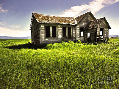 Haunted Shack In Idaho Print by Gregory Dyer
