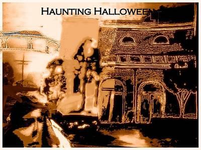 Haunting Halloween Art Print by Marian Hebert