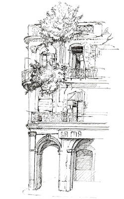 Drawing - Havana Decay by Sue Pownall