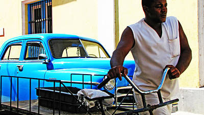Havana Transportation Art Print by Kimberley Bennett