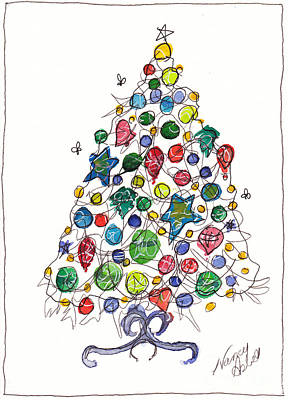 Having A Ball Christmas Tree Original by Michele Hollister - for Nancy Asbell