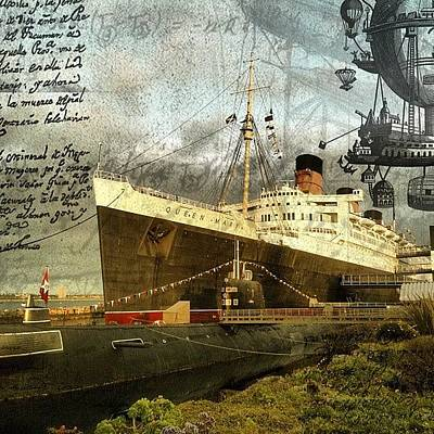 Steampunk Photograph - Having Some Fun. #queenmary #longbeach by Traci Lehman