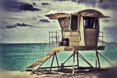 Print featuring the photograph Hawaii Life Guard Tower 1 by Jim Albritton