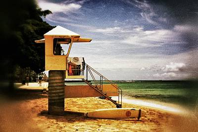 Print featuring the photograph Hawaii Lifeguard Tower 2 by Jim Albritton