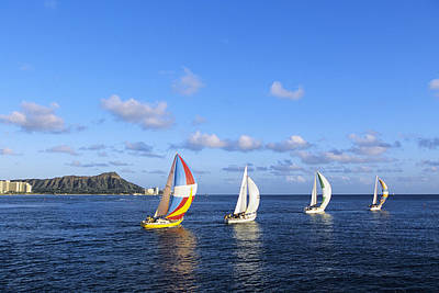 Photograph - Hawaii Sailboats by Joss