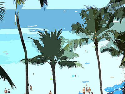 Wrap Digital Art - Hawaiian Beach by Karen Nicholson