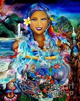 Digital Art - Hawaiian Goddess by Atheena Romney