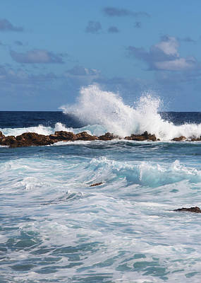Photograph - Hawaiian Shore Break  by Kerri Ligatich