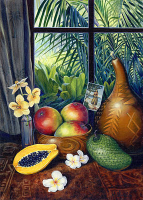 Hawaiian Still Life Art Print by Anne Wertheim