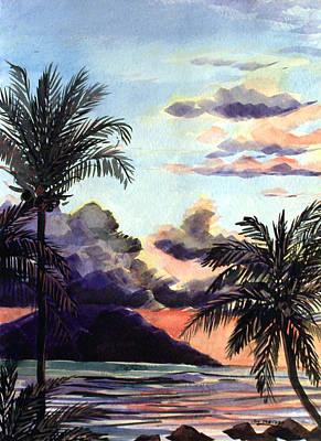 Hawaiian Sunset Art Print by Jon Shepodd
