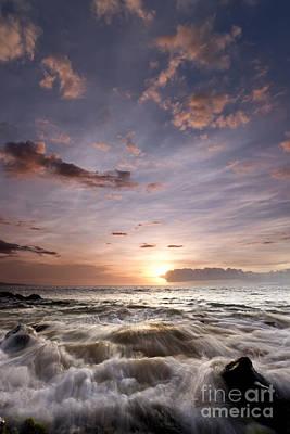 Sunset Photograph - Hawaiian Sunset South Maui by Dustin K Ryan