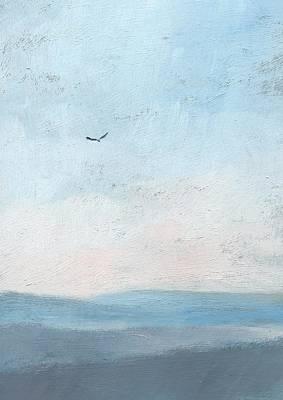 Hawk Hill Painting - Hawk Above The Dawn by Alan Daysh