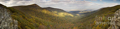 Hawksbill Mountain And Newmark Gap From Crecent Rock Overlook Art Print by Dustin K Ryan