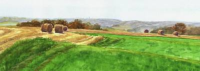 Painting - Hay Bails by Phyllis Martino