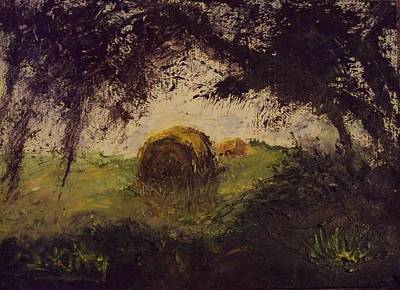 Painting - Hay Bale by Stephen King