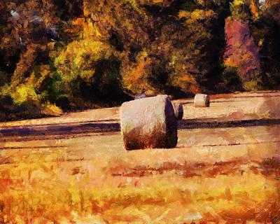 Painting - Hay Bales by Jai Johnson