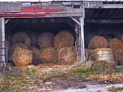 Photograph - Hay Bales by Nancy Griswold