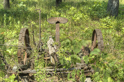 Pastue Photograph - Hay Cutter In The Weeds 1 by Douglas Barnett