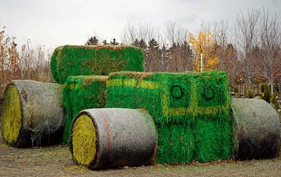 Hay Photograph - Hay Tractor by LeeAnn McLaneGoetz McLaneGoetzStudioLLCcom