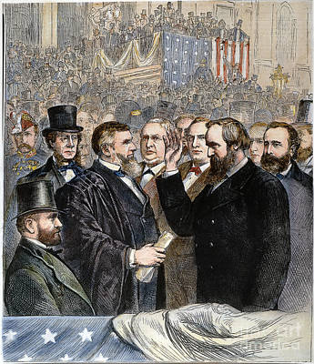 Hayes Inauguration Art Print by Granger