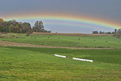 Photograph - Hayfield Rainbow by Gregory Scott