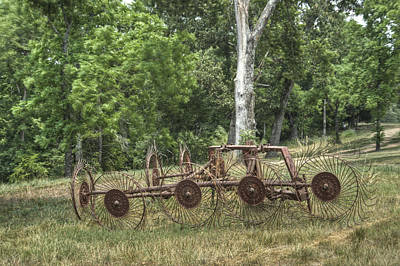 Pastue Photograph - Hayrake Put Out To Pasture by Douglas Barnett